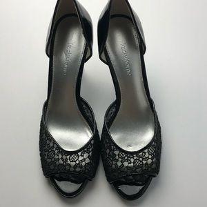 Liz Claiborne Lace Heels Great Condition